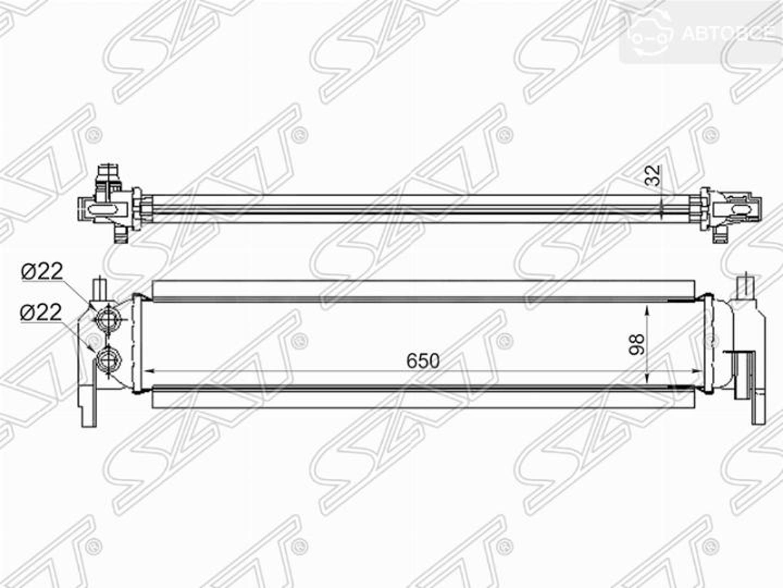 радиатор интеркулера audi a3/s3 12-/skoda octavia 13-/