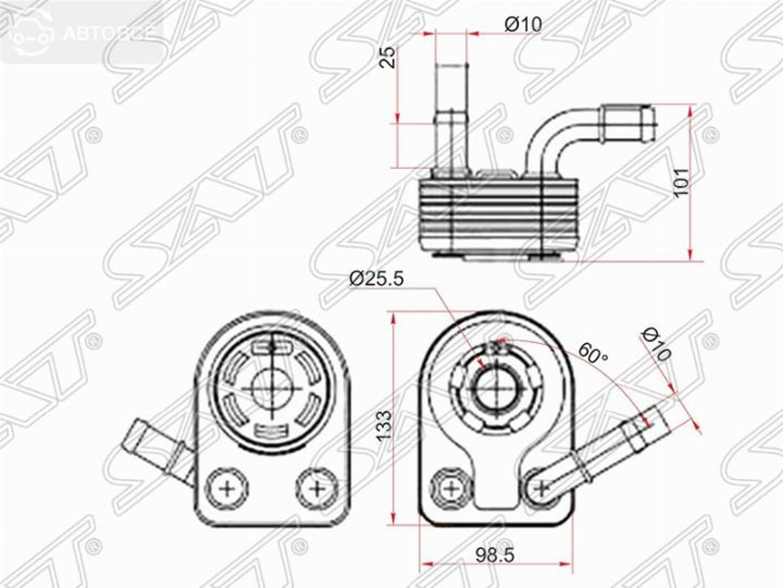 радиатор масляный ford c-max 10-/fiesta 08-/focus ii 04-11/focus iii 11-/kuga 13-/mondeo 07-/