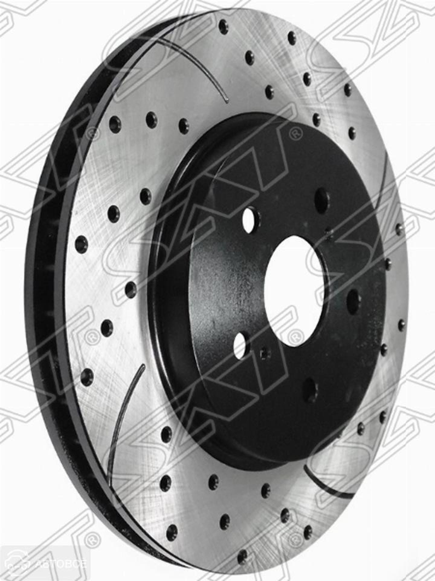 комплект дисков тормозных fr перфорированные