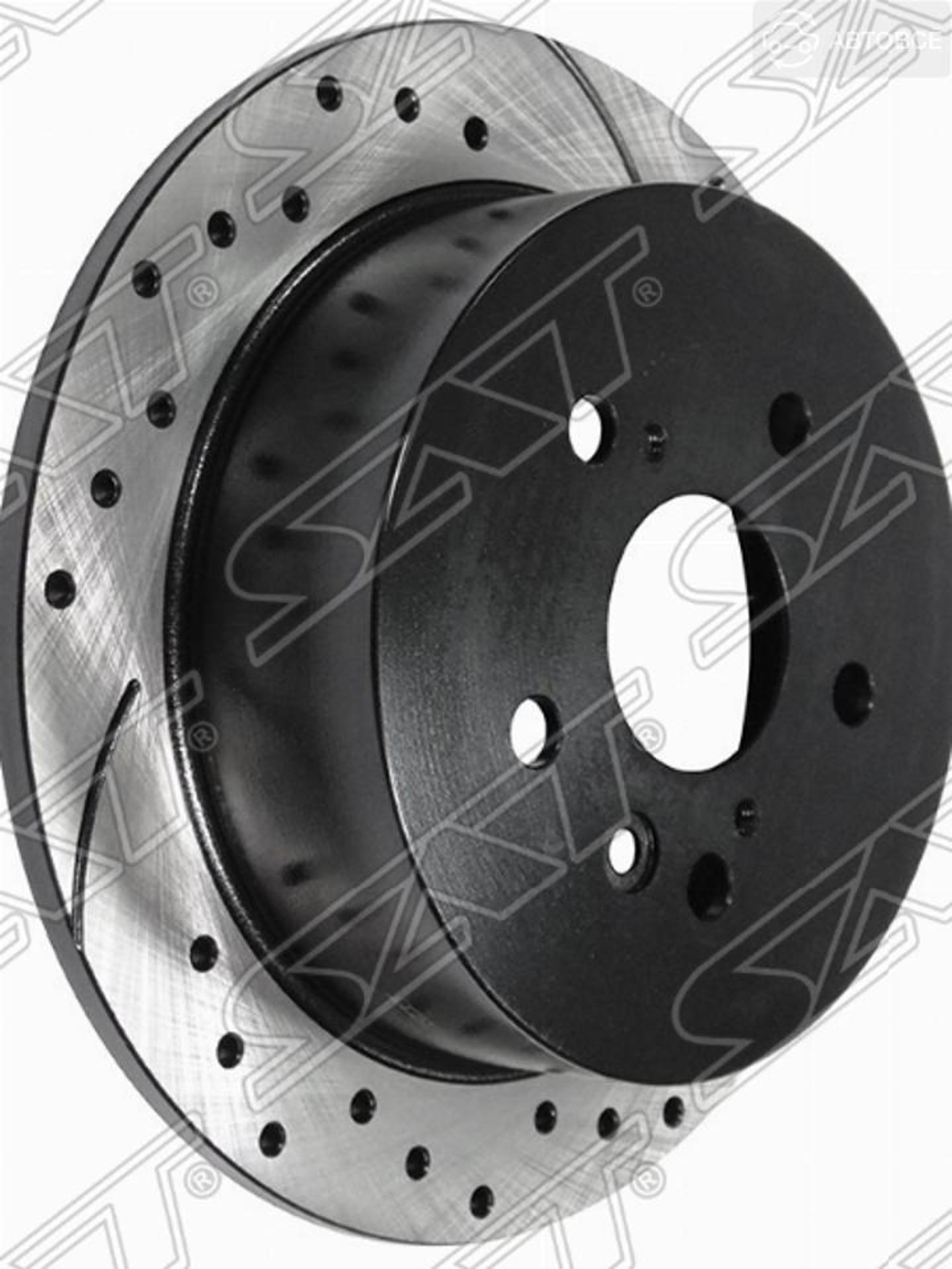 комплект дисков тормозных зад перфорированные