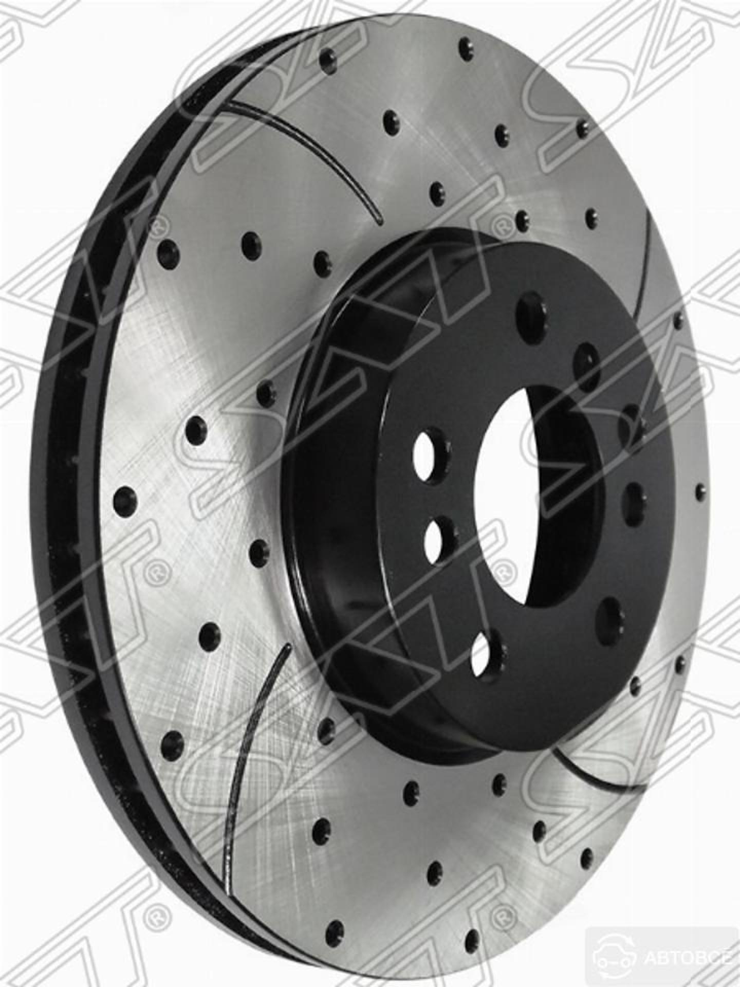 комплект дисков тормозных передний перфорированные