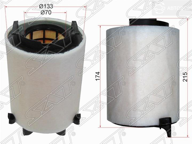 фильтр воздушный audi a3 03-/skoda octavia 04-/
