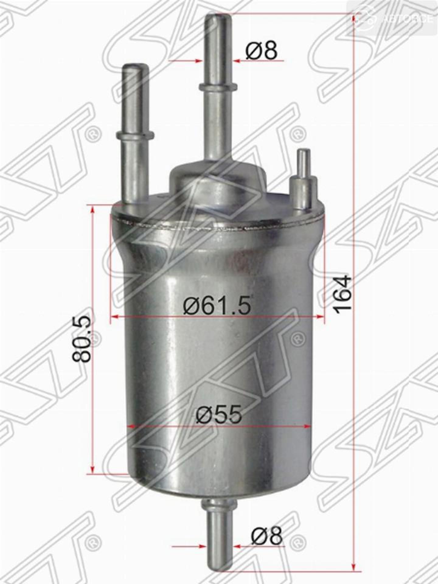 фильтр топливный audi a1 10-/skoda octavia 04-/