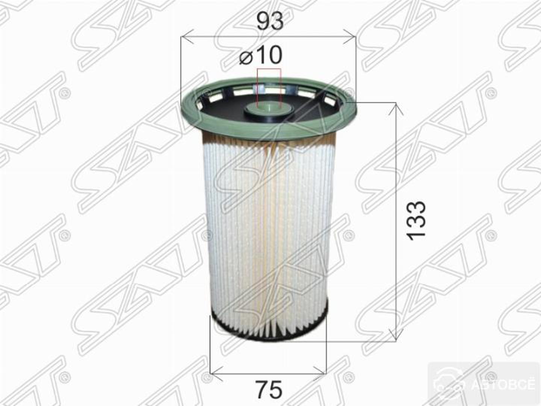 фильтр топливный vw tiguan 2.0 tdi 11-16/passat 1.6/2.0 tdi 05-15/
