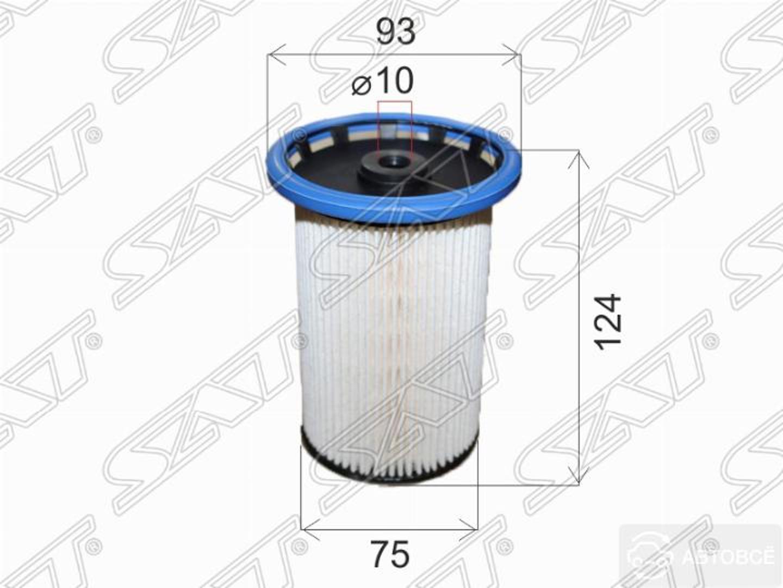 фильтр топливный vw touareg 3.0/4.2 10-18/