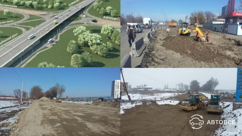 Трехуровневой будет развязка на Аэропортовском кольце в Алматы